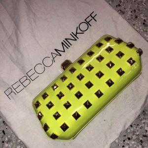 Rebecca Minkoff Neon Studded Patent Crossbody Clut